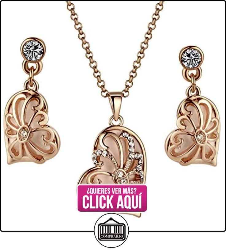 Arco Iris Jewelry - Pendientes en forma de corazón, colgante con adorno de cristal y detalle corazón  ✿ Joyas para mujer - Las mejores ofertas ✿ ▬► Ver oferta: https://comprar.io/goto/B00C8P16AS