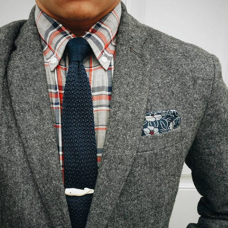 Freewhale n' knit. Pocket square: Jacket: × Shirt, tie, tie bar: by  thedressedchest