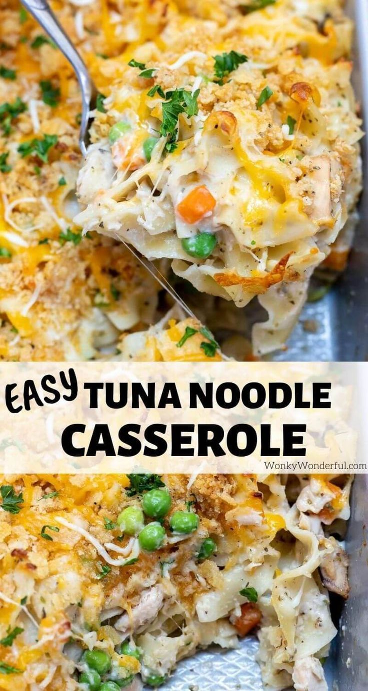 Easy Tuna Casserole Recipe Wonkywonderful Tuna Casserole Easy Dinner Casseroles Tuna Casserole Recipes