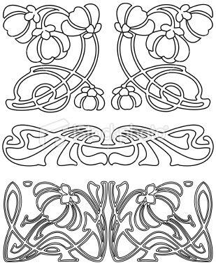 Art Deco Design Elements 3 (Vector). Royalty Free Stock Vector Art Illustration