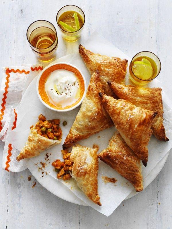 Butter Chicken Samosas Recipe | myfoodbook | Easy Samosa recipe