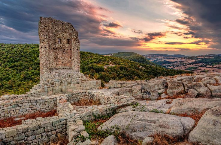 The ancient Thracian city of Perperikon located in the Eastern Rhodopes, Bulgaria, on a 470 m high rocky hill, thought that the famous Temple of Dionysius is located at this location.