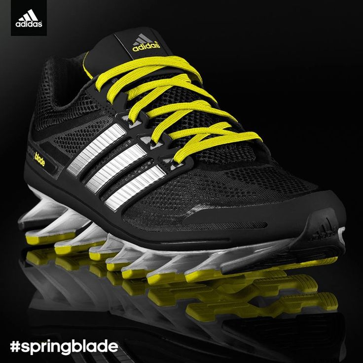 Gentle Brand Adidas Springblade Razor Running Shoes Mens Black Blue Silver