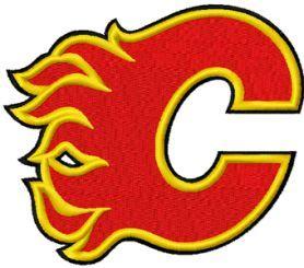 Calgary Flames logo machine embroidery design $3 embroideres.com