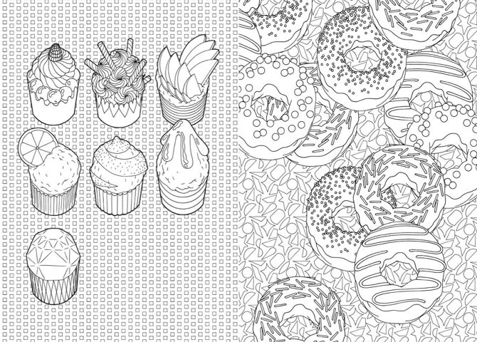 Cuupcakes and donuts cupcake and sweeties pinterest - Coloriage cupcake ...