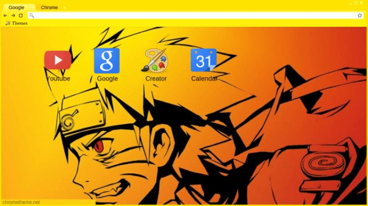 Naruto Nine Tails Chrome Theme - ThemeBeta