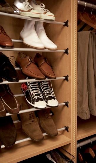 Shoe Poles   Inspiration California Closets DFW