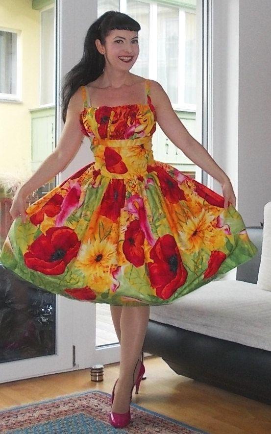 Pin up Alexis frontière floral robe ou la par PinupDollCollection