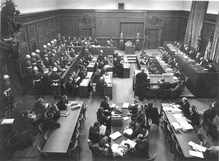 La sala del Tribunal de Nuremberg – vista general/ Juicio de Nüremberg #Antecedentesdelabioética