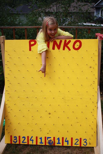 Carnival party -Husband made this awesome plinko game!DRINKO?