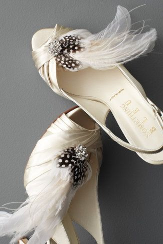 bridal shoes plume