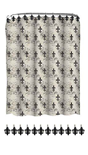 Indecor Home Fabric Fleur De Lis Shower Curtain and Resin Hook Set Indecor Home http://www.amazon.com/dp/B00KL3WQQC/ref=cm_sw_r_pi_dp_x74kwb04D8JPQ