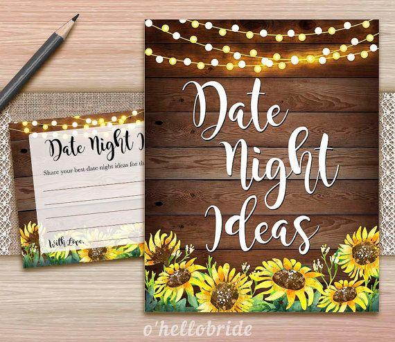 Datum nacht ideeën voor Newlywed bruids douche door ohellobride