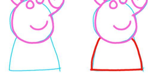 Como dibujar a peppa pig