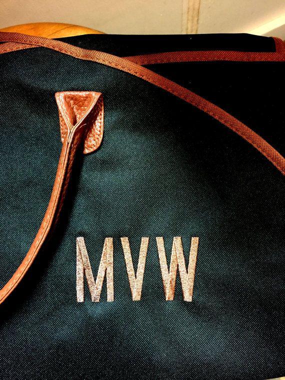 Personalized Men's Garment Bag Monogrammed Hanging by MJMonograms