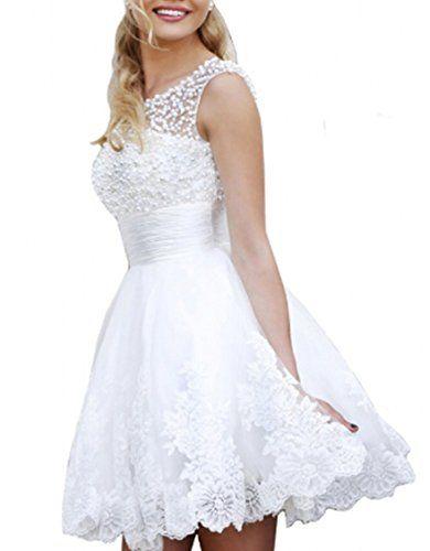 Babyonline Sleeveless Beaded Short Prom Dresses 2015 Cute White Party Dress Babyonlinedress http://www.amazon.com/dp/B00ZWX215C/ref=cm_sw_r_pi_dp_yuxMwb17T0Q4X