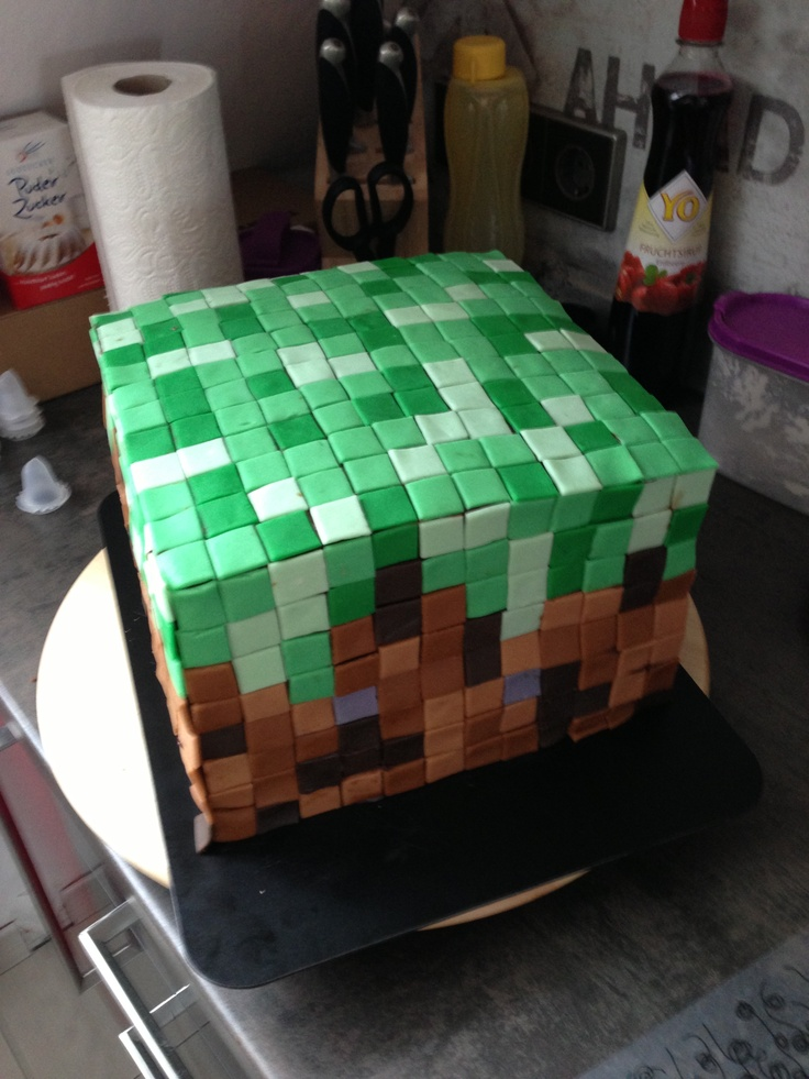 Images Of Birthday Cakes For Brother In Law : Minecraft Birthday Cake for my brother-in-Law MY CAKES ...