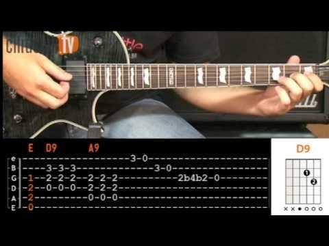 Back in Black - AC/DC (aula de guitarra - riff)