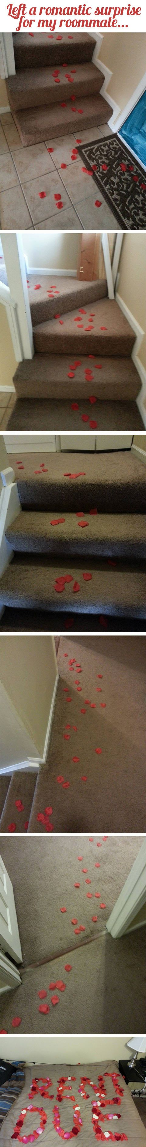 I'm going to remember this one any future roommates...romantic!