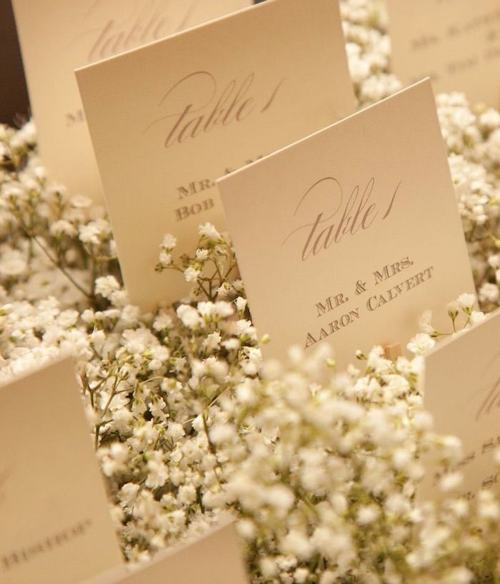 Romantic Wedding reception escort card idea for Fall and Winter; via Stems Floral Design and Productions