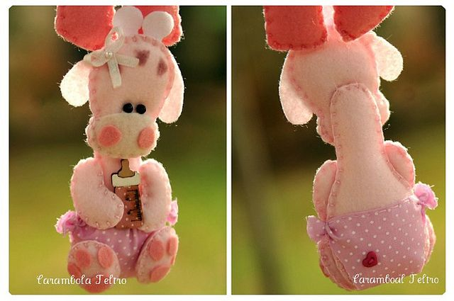 fofoooooooooooooo by carambola arte em feltro, via FlickrCrafts Ideas, Cute Baby Girls, Animais Ems Feltro, Felt Crafts, Art Ems Feltro, Girls Piggies, Carambola Art, Felt Giraffes, Crafts Ems