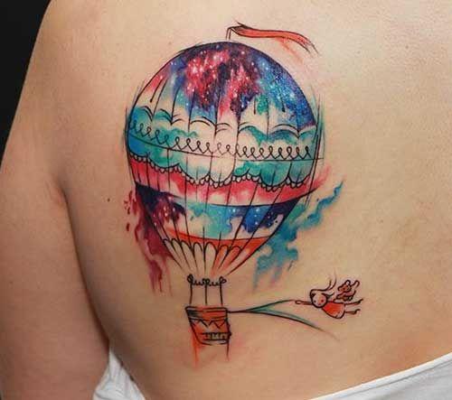 25 Fotos de Tatuagens de Balão + Significado!