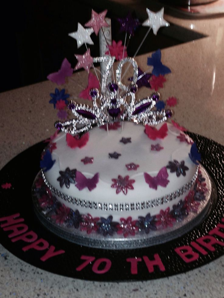 70th Birthday Cake Decorated By My Daughter For Her Grandma What A