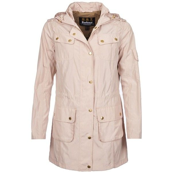 Women's Barbour International Delter Casual Jacket - Dark Pearl (£128) ❤ liked on Polyvore featuring outerwear, jackets, summer jackets, motorcycle jacket, pink parka, barbour international and barbour international jacket