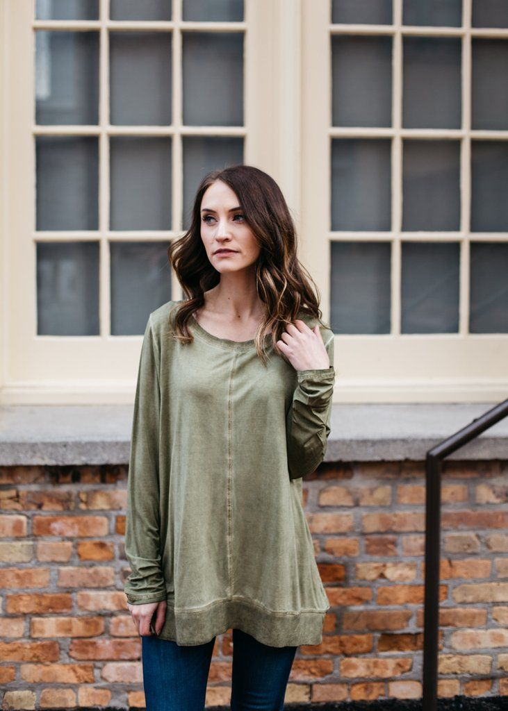 Washed Slouchy Tee 1