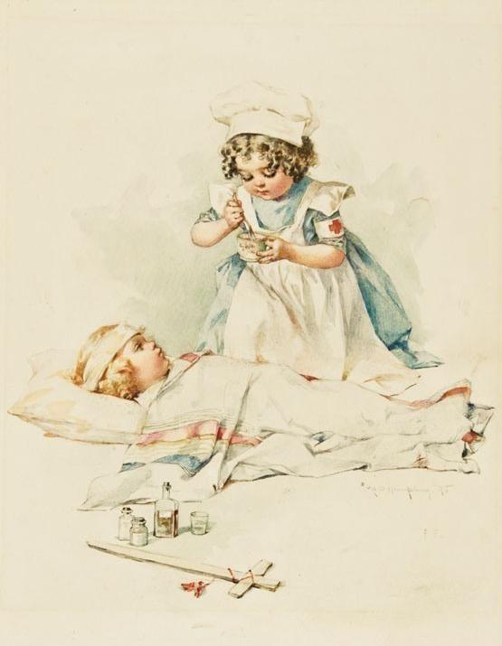 День медсестры открытка ретро