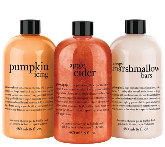 Time for Fall kids which means the Philosophy Fall Favorites Shower Gel Trio should be gracing your shower shelves! Call me crazy but I rotate my shower ge