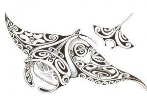 tatouage-raie-polynesien