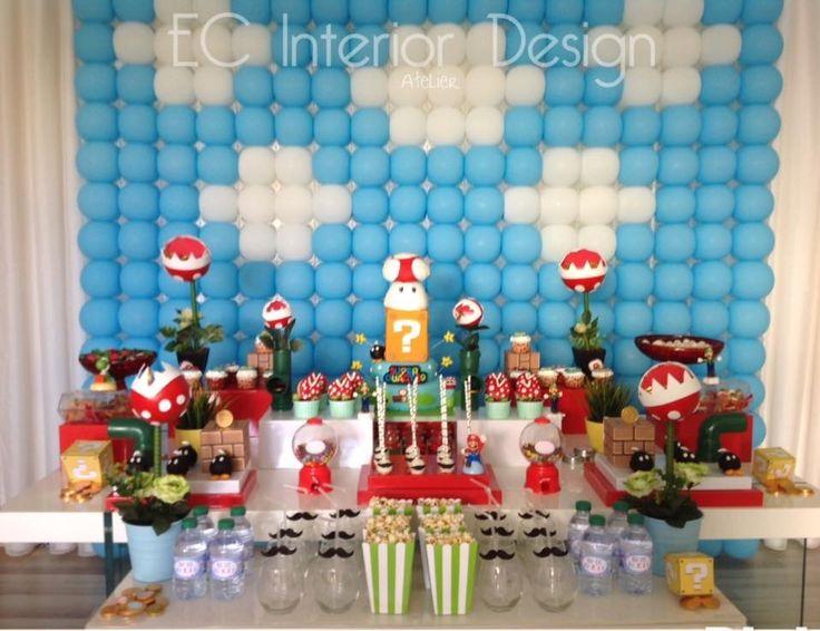 Super Mario party  by: Elisa Carvalho (EC interior design & party )
