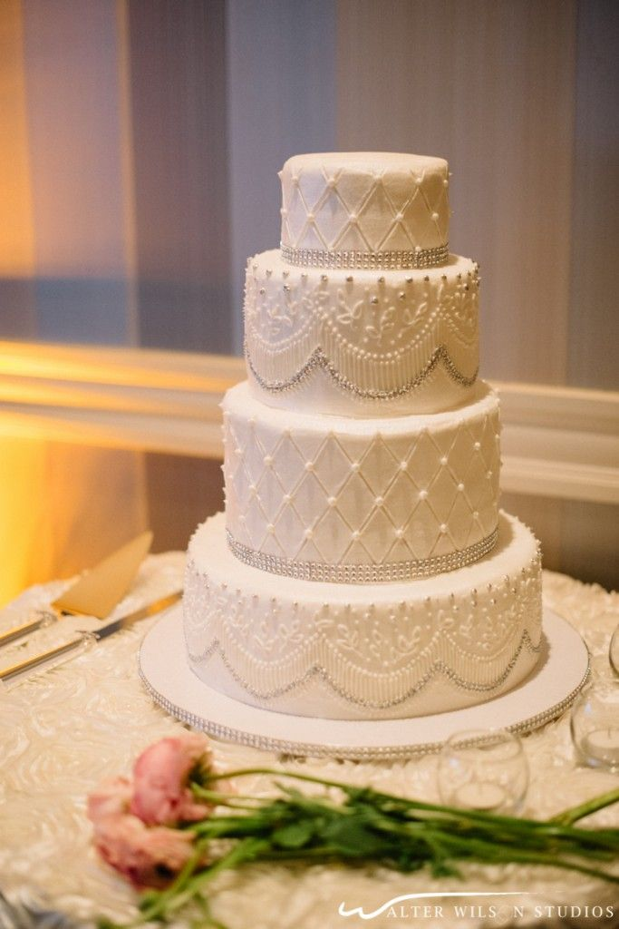 White And Silver Wedding Cake Simplybeautiful Photo Cred Walter Wilson