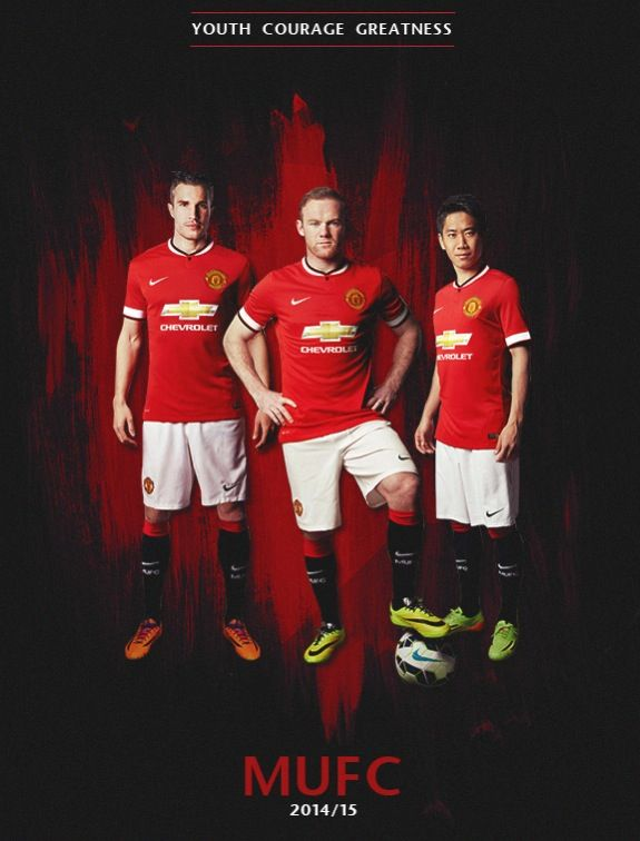 MUFC 2014/15. Youth. Courage. Greatness.