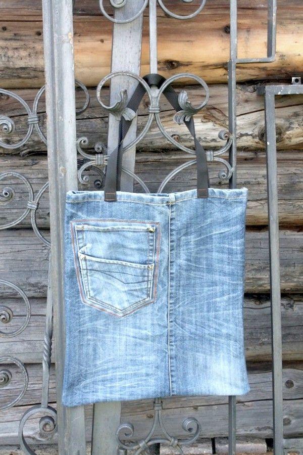 Upcyclingtasche aus Jeans