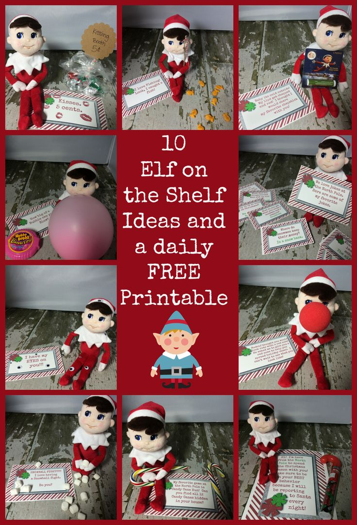 10 Elf On The Shelf Ideas and FREE Printables