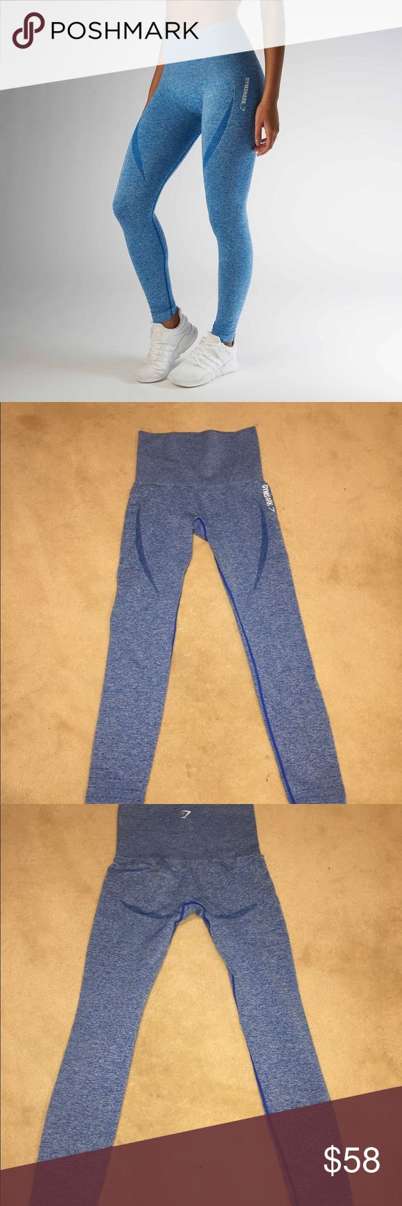 Gymshark Seamless Leggings Blue Marl Popular and sold out Seamless Legging   Size XS (I usually fit Small too)   Flattering for booty  Great condition, like new Gymshark Pants Leggings