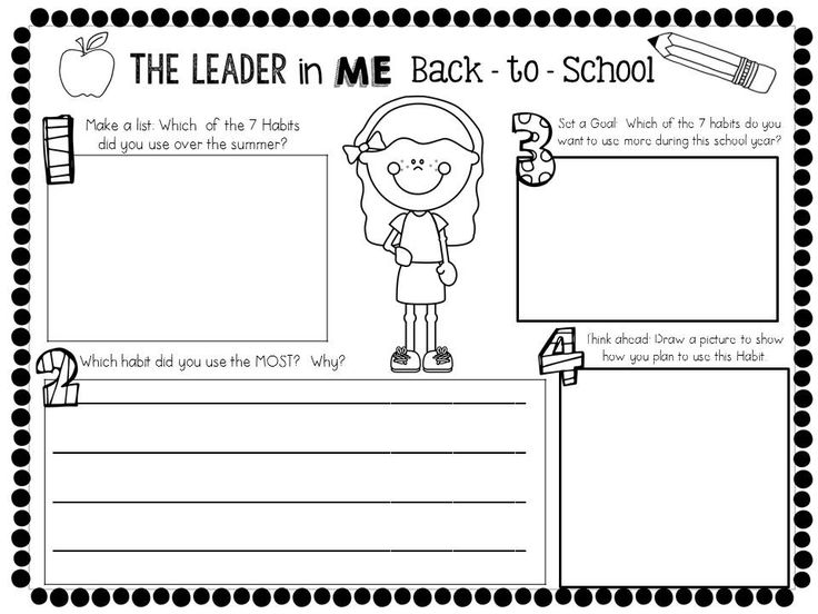 The Leader in Me: The 7 Habits of Happy Kids. Back-to-School Activity