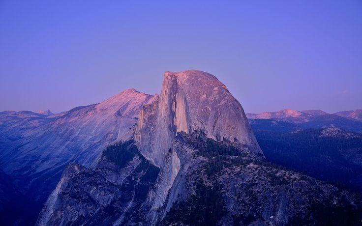Хаф-Доум, США, Калифорния, Национальный парк Йосемити, закат, гранитная скала…