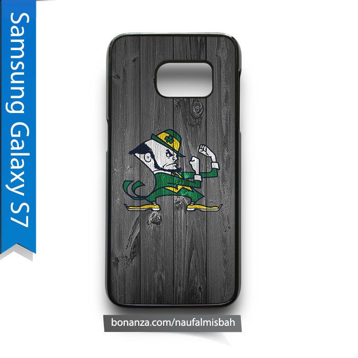 Notre Dame Fighting Irish on Wood Samsung Galaxy S7 Case Cover