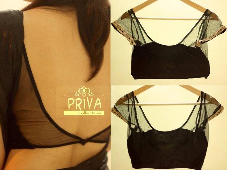 black net blouse