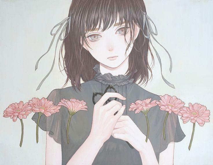 「みんなでならんで」 紺野真弓 Mayumi Konno 2016 410x318mm キャンバスにアクリル Acrylic on Canvas