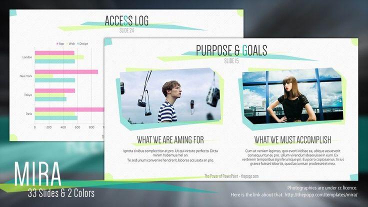 Clean Business Introduction Powerpoint Template Di 2020 Kartu Nama Desain Kartu