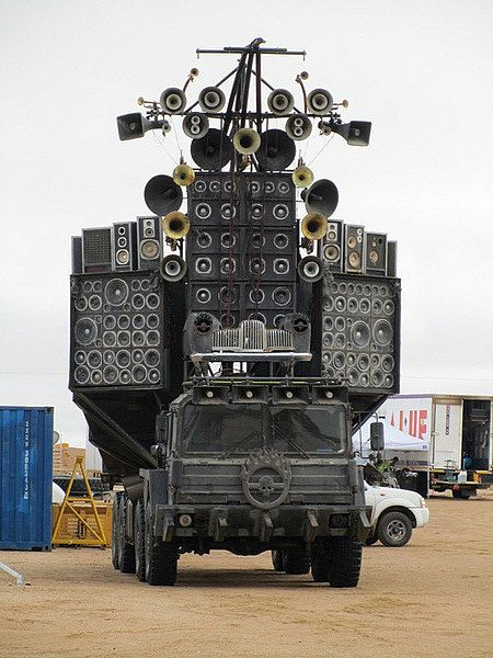 Mad Max sound system. Acid techno warfare.