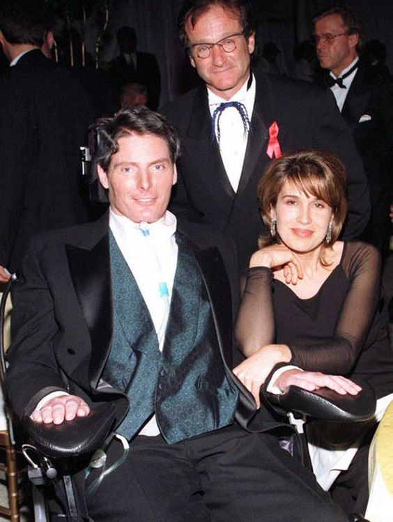 Christopher & Dana Reeve with Robin Williams