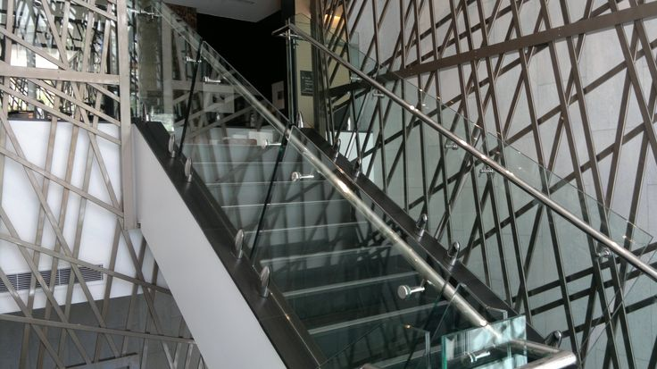 Feature staircase at the HIlton Hotel