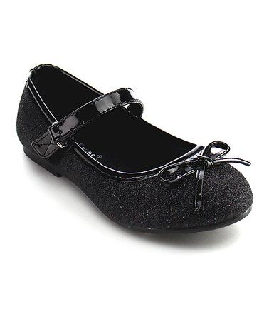 f1ecd8b0d2836 Loving this Black Bow Strawberry Mary Jane - Girls on  zulily!  zulilyfinds