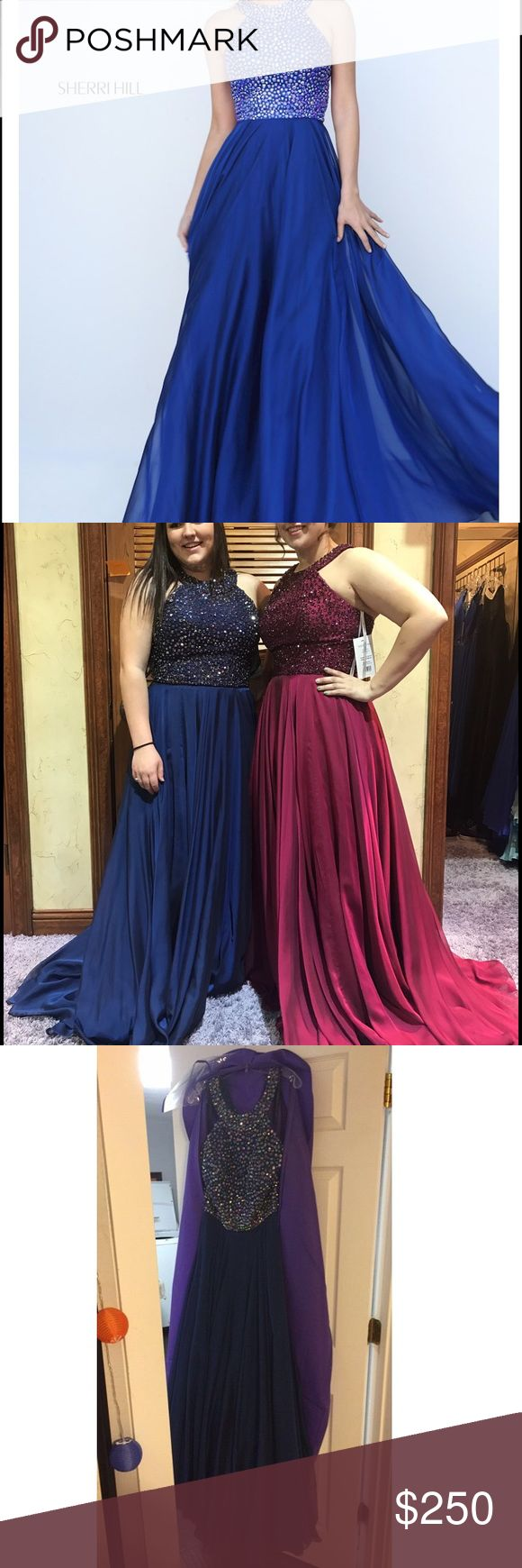 Sherri Hill 2017 prom dress size 16 I just bought this dress for  $500 at Whatchamacallit and it is beautiful, it has only been worn to be tried on and I am putting it for sale now incase someone wants it for there prom if it is after mine (which is April 22) I could ship it the next Monday of you are interested :) I will also include the shoes I got to go with it if you are interested (size 9) Sherri Hill Dresses Prom