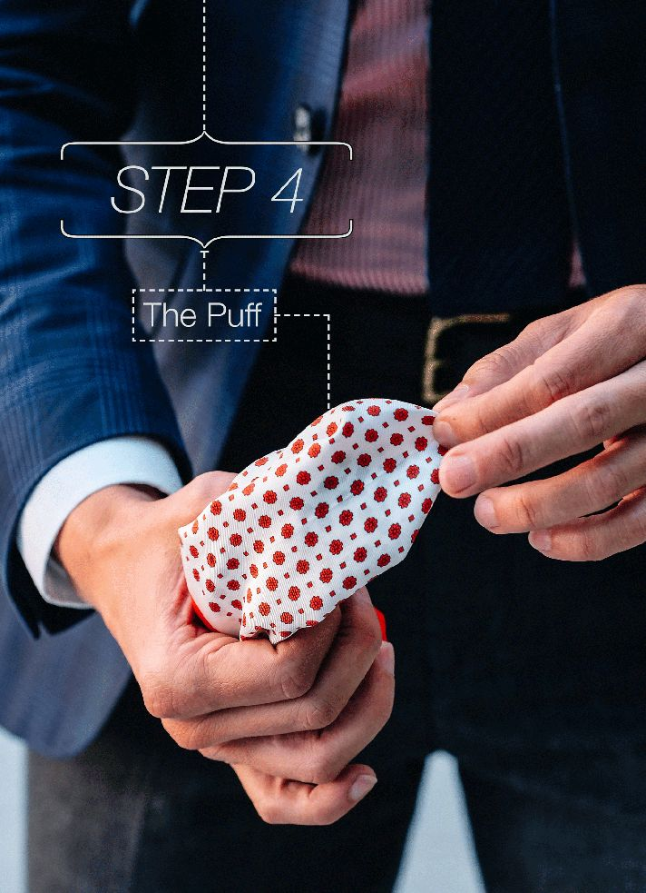Step-4    Fancy, Dapper, Men, Smart, Blue Blazer, Ties, Pocket Squares, Tutorial, Folding, Sunglasses, Menswear, Mens Style, Fashion, Mens Fashion, Wardrobe, City Style, Close Up, RayBan, Belts, Close Up, @Spitz, GIF, Photography